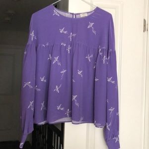 Silk blouse from Aritzia